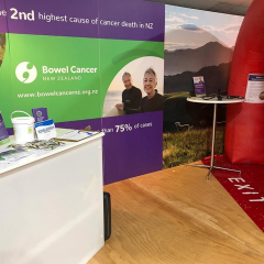 Bowel Cancer NZ attended Fieldays, 2019