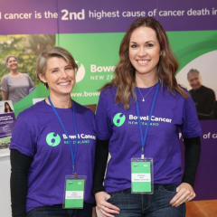 Mary and Rebekah from Bowel Cancer NZ at Fieldays, 2019