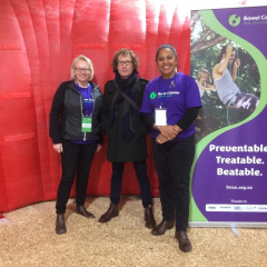 Trisha, Chair and Rachael, Board member with Te Radar at FieldDays, 2019