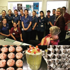 These amazing ladies from Ward M12 at Waikato Hospital, organised by the lovely Anna Turkington, baked their hearts out all month and raised a whopping $2,300 for us!