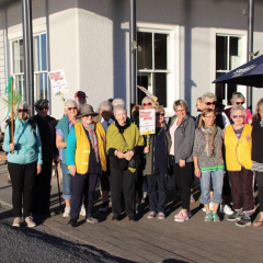 The Lions Club of Seaward Kaikoura walked during Move your Butt month