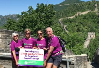 Bowel Cancer NZ at the Great wall of China