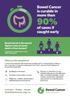 Bowel Cancer Symptoms flyer
