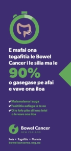 Bowel Cancer Symptoms poster in Samoan
