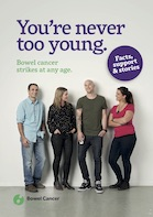 Never too young to get bowel cancer booklet