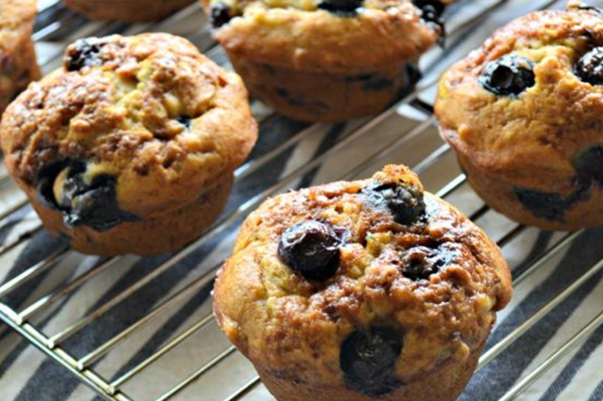 Banana & Blueberry Gluten Free Muffins