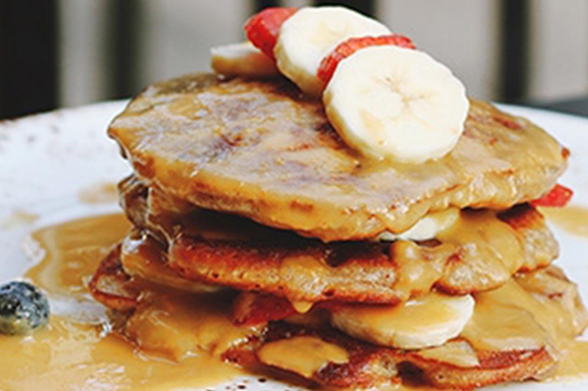 Nutty Banana Pancakes Recipe