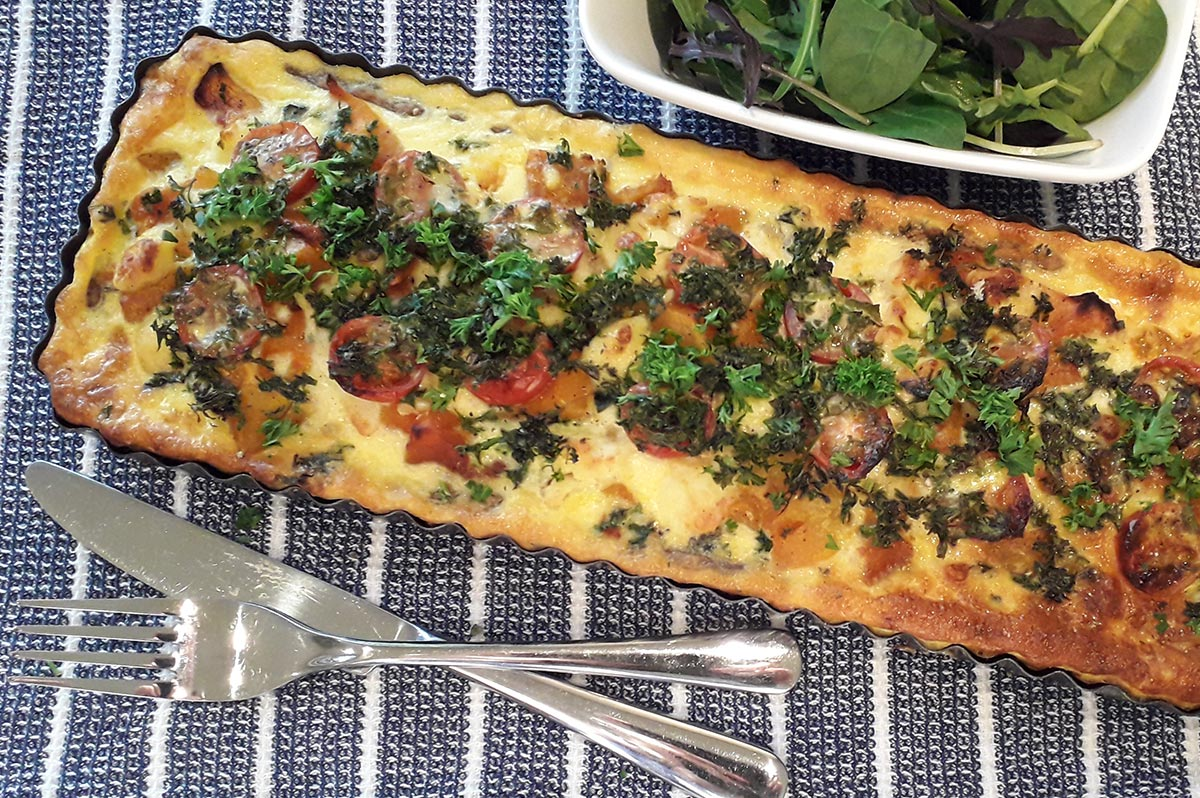 Roasted Pumpkin, Leek & Feta Tart Recipe