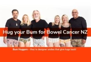 Bowel Cancer bum huggers poster