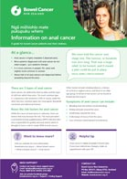 Information on anal cancer fact sheet